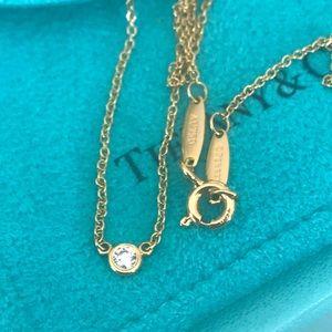 "Tiffany & Co 18K ""Diamonds by the Yard"" Necklace"